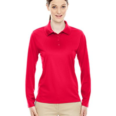 Ash City - Core 365 Ladies' Pinnacle Performance Long-Sleeve Piqué Polo Thumbnail