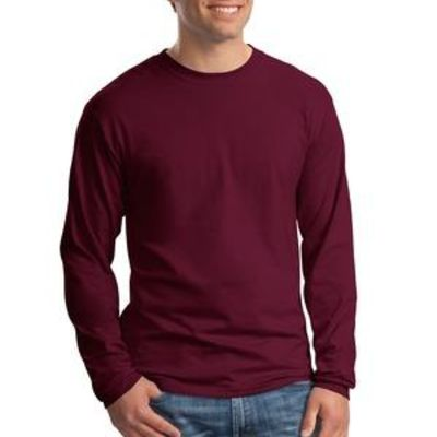 Hanes Beefy T ® 100% Cotton Long Sleeve T Shirt Thumbnail