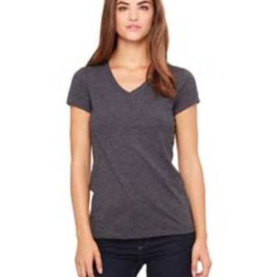 Bella Canvas Ladies' Jersey Short-Sleeve V-Neck T-Shirt Thumbnail