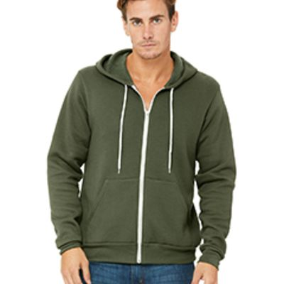 Bella Canvas Unisex Poly-Cotton Fleece Full-Zip Hoodie Thumbnail